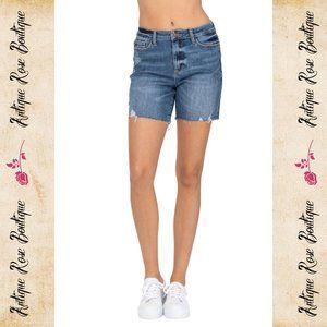 🌹 Judy Blue High Waist Mid-Thigh Shorts
